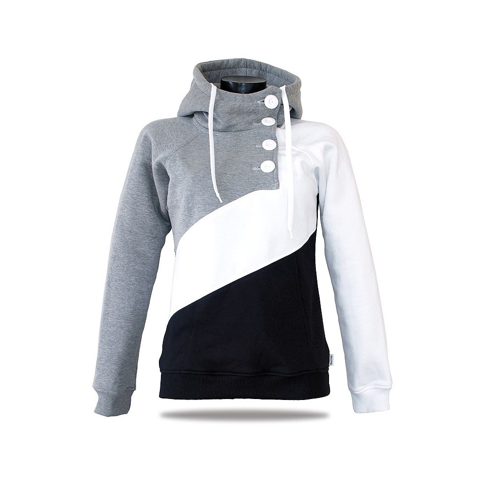 Women's luxury sweatshirt Barrsa Tricolor Black/Gray