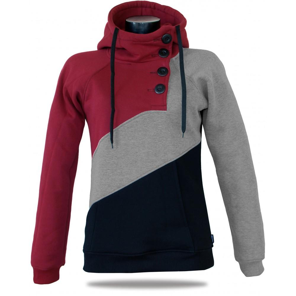 achten Sie auf Großhändler Exklusive Angebote Damen Luxus-Sweatshirt Barrsa Tricolor Black/WR