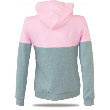 Dámská mikina s kapucí na zip Barrsa Snop Grey/Pink