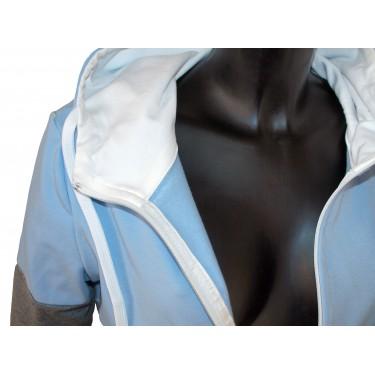 Ladies hoodie with zipper Barrsa Snop Grey/Blue