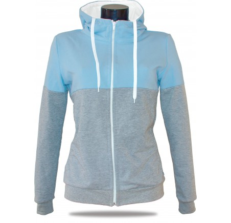 339b81ce894f Ladies hoodie with zipper Barrsa Snop Grey Blue