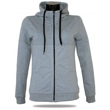 Ladies hoodie with zipper Barrsa Snop Grey/Blue