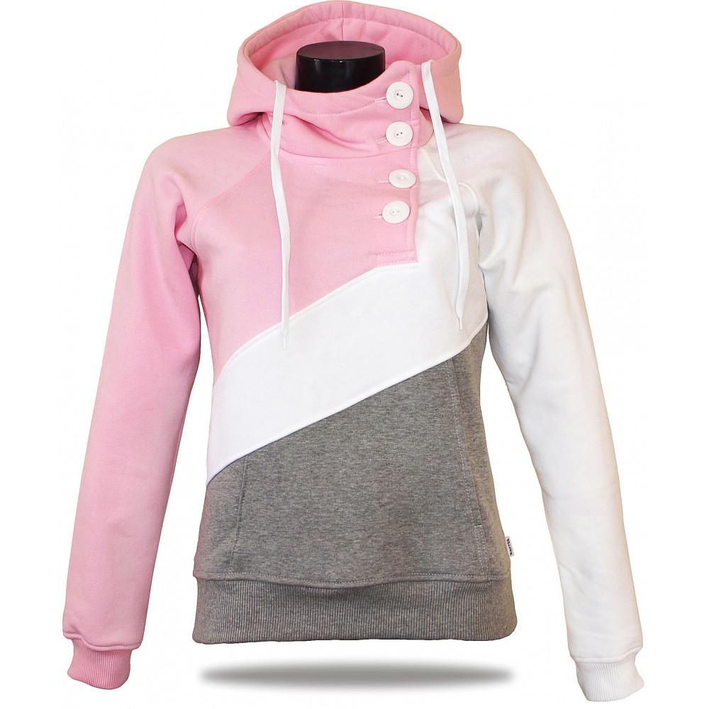 Dámská luxusní mikina Barrsa Tricolor Pink/Grey