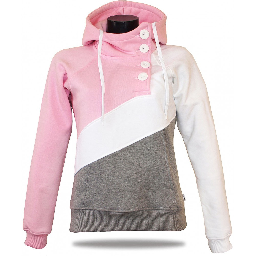 Women's luxury sweatshirt Barrsa Tricolor Pink/Gray