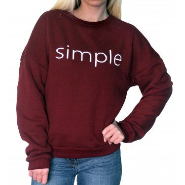 Barrsa Simple wine-red/Black – Women's pullover