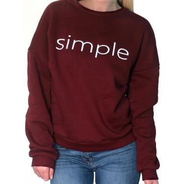 Barrsa Simple wine-red/Black – Women's pullover