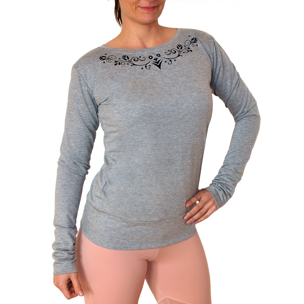 ffc68187ab65 Luxusné dámske top s dlhý rukávom Barrs Crystal Shine je ďalší model z rady  letných odevov. Tento top má atypický výstrih okolo krku