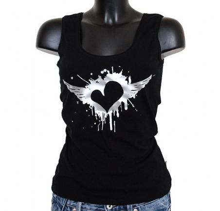 Dámské tílko Barrsa - Summer Lady Heart - black