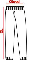 nákres rozměrů tepláků